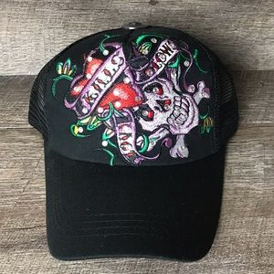 Traditional Sugar Skull Embroidered Baseball Hat